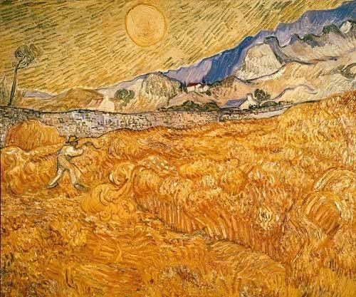 landschaften-gemaelde - Le moissonneur - Van Gogh, Vincent