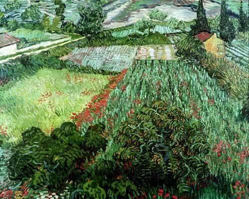 landschaften-gemaelde - Champ aux coquelicots, 1889 - Van Gogh, Vincent