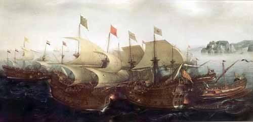 seelandschaft - Batalla Naval - Vroom, Hendrick