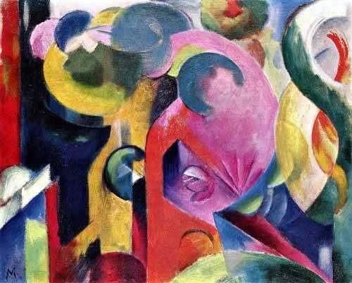 abstrakte-gemaelde - Composition of III - Marc, Franz