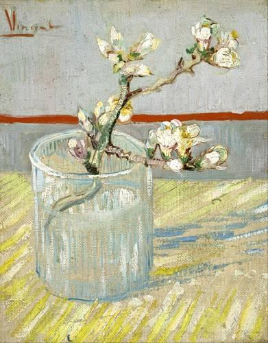 flur-treppenhause - Blühender Mandelzweig im Glas - Van Gogh, Vincent