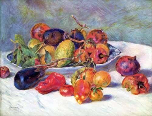 flur-treppenhause - Fruits du sud - Renoir, Pierre Auguste