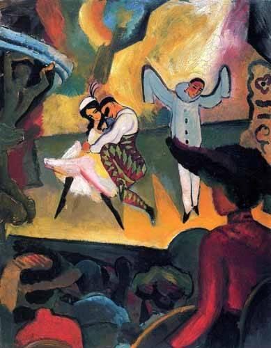 portraetgemaelde - Ballet ruso - Macke, August