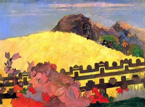 landschaften-gemaelde - Parahi te marae (El templo está allí) - Gauguin, Paul