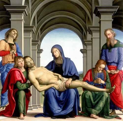 religioese-gemaelde - La Piedad - Perugino, Pietro Vannucci