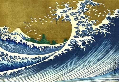 orientalische-gemaelde - Grande Vague - Hokusai, Katsushika
