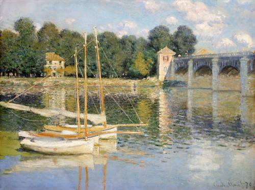 landschaften-gemaelde - Brücke von Argenteuil, 1874 - Monet, Claude
