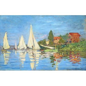Seelandschaft - Regatta bei Argenteuil - Monet, Claude
