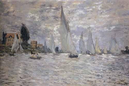 seelandschaft - Les barques. Régates à Argenteuil - Monet, Claude