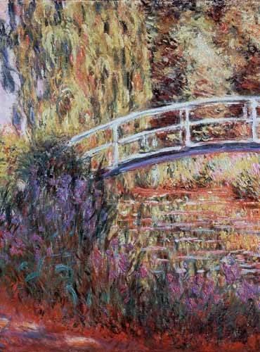 landschaften-gemaelde - Le bassin aux nymphéas, harmonie rose - Monet, Claude