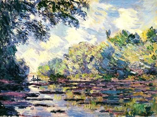 landschaften-gemaelde - La Seine, près de Giverny - Monet, Claude