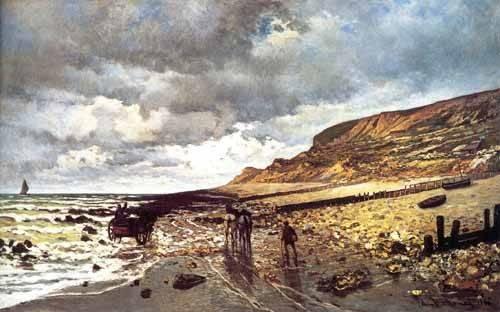 seelandschaft - Le Cap de la Hève à marée basse - Monet, Claude