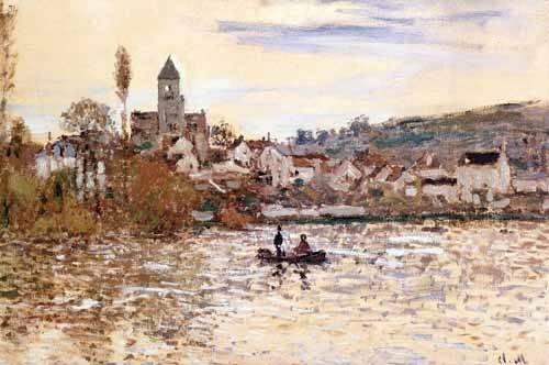 landschaften-gemaelde - La Seine à Vétheuil - Monet, Claude