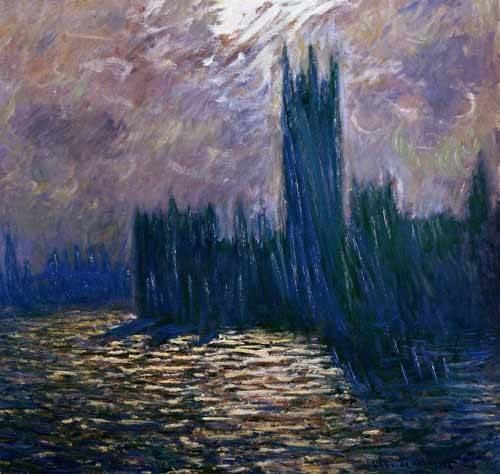 landschaften-gemaelde - Parlement de Londres, effets sur la Tamise, 1905 - Monet, Claude