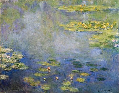landschaften-gemaelde - Nymphéas, Giverny - Monet, Claude