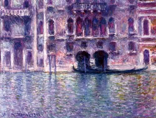 landschaften-gemaelde - Le palais de Mula, Venise, 1908 - Monet, Claude