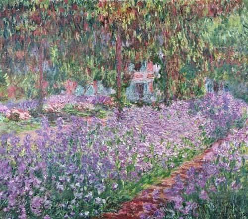 landschaften-gemaelde - Der Garten des Künstlers bei Giverny, 1900 - Monet, Claude