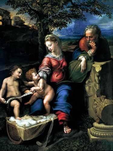 religioese-gemaelde - La Sagrada Familia del Roble - Raphaël, Sanzio da Urbino Raffael