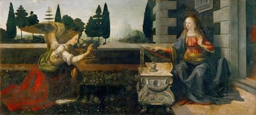religioese-gemaelde - L'annonciation - Vinci, Leonardo da