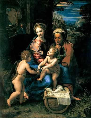 religioese-gemaelde - La Sagrada Familia de la Perla - Raphaël, Sanzio da Urbino Raffael