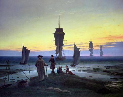 seelandschaft - Die Lebensstufen, 1835 - Friedrich, Caspar David