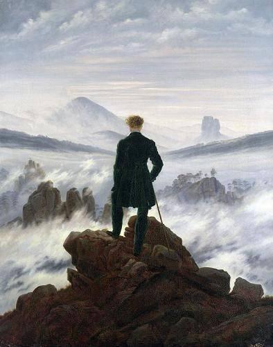 landschaften-gemaelde - Der Wanderer über dem Nebelmeer, 1818 - Friedrich, Caspar David