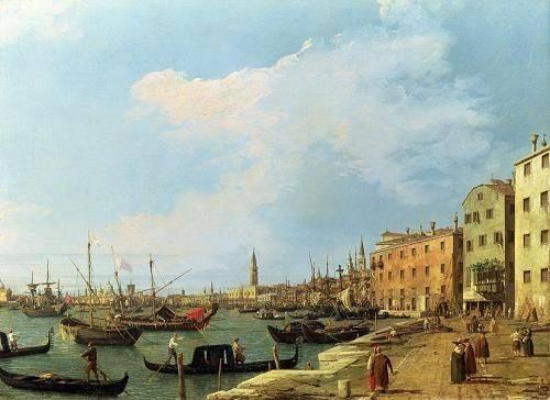 seelandschaft - The Riva Degli Schiavoni, 1724-30 - Canaletto, Giovanni A. Canal