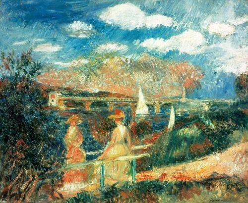 seelandschaft - Les berges de la Seine à Argenteuil, 1880 - Renoir, Pierre Auguste