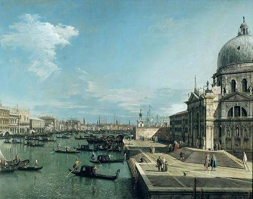 seelandschaft - The Entrance to the Grand Canal, Venice - Canaletto, Giovanni A. Canal