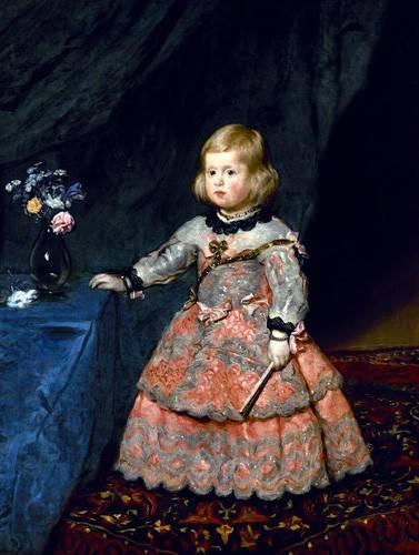 portraetgemaelde - Retrato de la Infanta Margarita a la edad de tres años - Velazquez, Diego de Silva