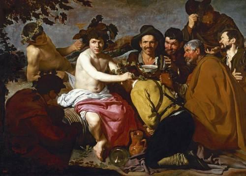 portraetgemaelde - Los borrachos (El triunfo de Baco) - Velazquez, Diego de Silva