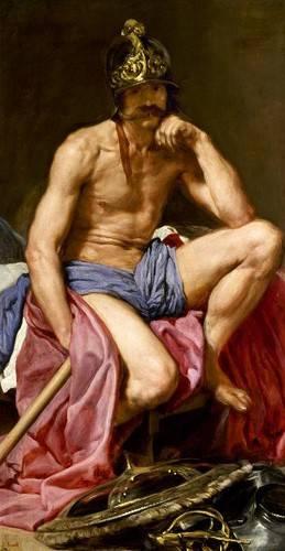 portraetgemaelde - El dios Marte - Velazquez, Diego de Silva