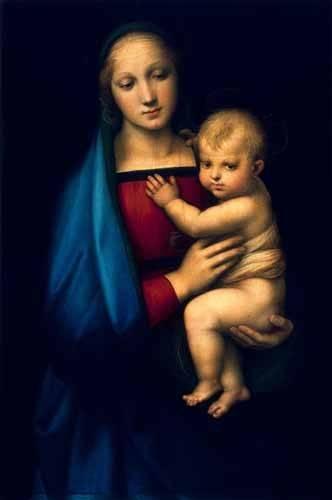 religioese-gemaelde - Madonna del Granduca - Raphaël, Sanzio da Urbino Raffael