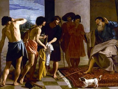 portraetgemaelde - La túnica de José - Velazquez, Diego de Silva
