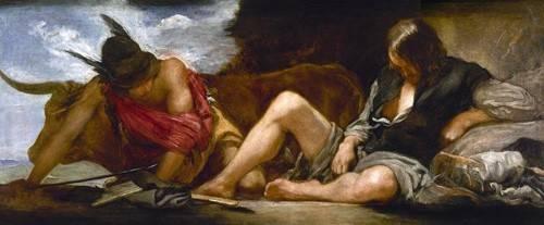 portraetgemaelde - Mercurio y Argos - Velazquez, Diego de Silva