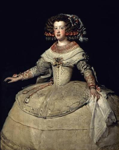 portraetgemaelde - Retrato de la Infanta Maria Teresa, hija del Rey Felipe IV - Velazquez, Diego de Silva