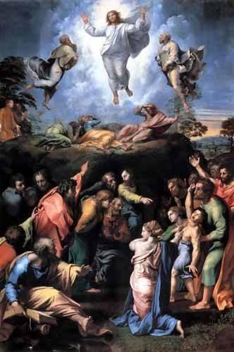 religioese-gemaelde - The Transfiguration - Raphaël, Sanzio da Urbino Raffael