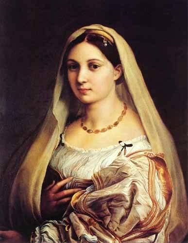 portraetgemaelde - Mujer con velo - Raphaël, Sanzio da Urbino Raffael