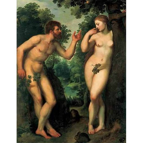 imagens religiosas - Quadro -Adán y Eva-