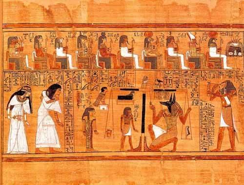 orientalische-gemaelde - Libro de los muertos (de Ani): El Tribunal de los Dioses - _Anonym Ägypten