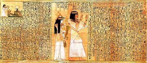 orientalische-gemaelde - Libro de los muertos (de Ani): Osiris - _Anonym Ägypten