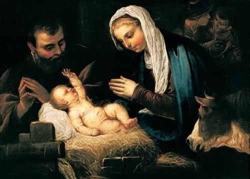 religioese-gemaelde - La Sagrada Familia - Tintoretto, Jacopo Robusti