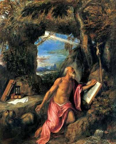 religioese-gemaelde - San Jerónimo en penitencia - Tiziano, Tiziano Vecellio