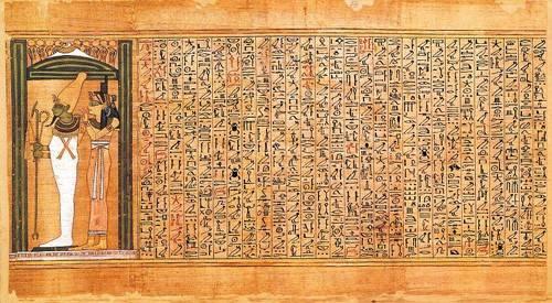 orientalische-gemaelde - Libro de los muertos (de Ani): Osiris e Isis - _Anonym Ägypten