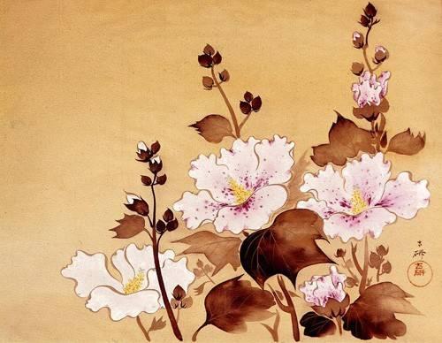 orientalische-gemaelde - Flores blancas - _Anonym China