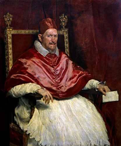 religioese-gemaelde - Retrato del Papa Inocencio - Velazquez, Diego de Silva