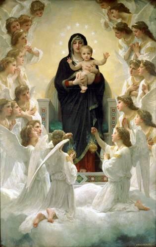 religioese-gemaelde - La Virgen y angeles - Bouguereau, William