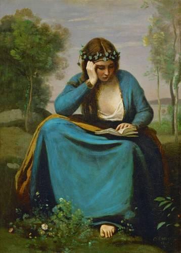 portraetgemaelde - La Muse de Virgil - Corot, J. B. Camille