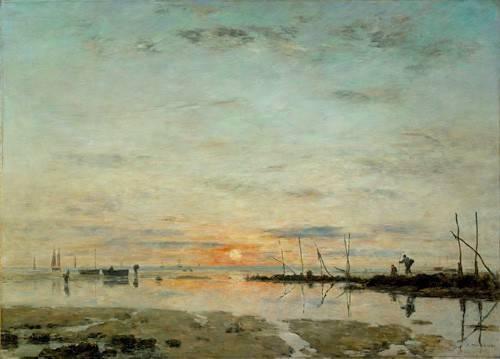 seelandschaft - Le Havre, coucher de soleil à mer basse - Boudin, Eugene