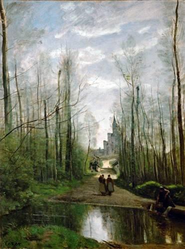 landschaften-gemaelde - L'église de Marissel - Corot, J. B. Camille